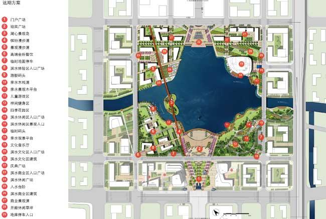 城市公园手绘设计平面图分享展示