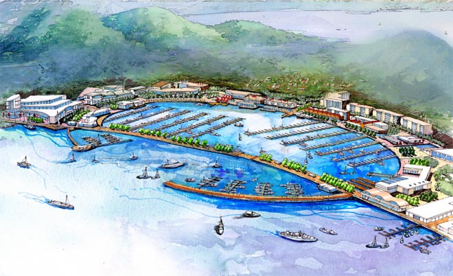 舟山朱家尖国际游艇码头概念规划