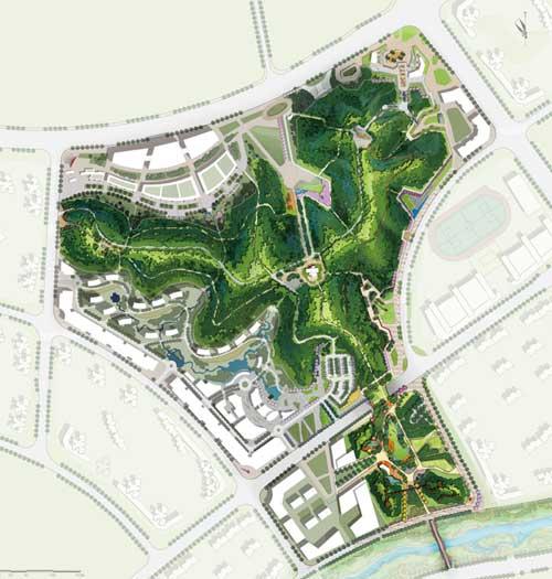长沙梅溪湖梅岭公园景观设计 - 公共空间景观 - 景观