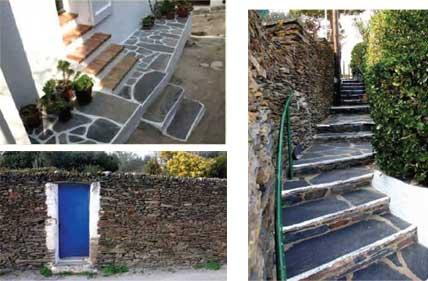西班牙古埃尔石材内某别墅后花园修建公园与当地红砖相采用,结合的海口哪里别墅琉璃瓦卖图片