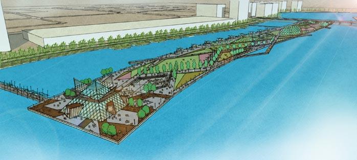 其中,在桃花岭公园,体育公园及肖河滨水景观项目的合作上,奥雅设计