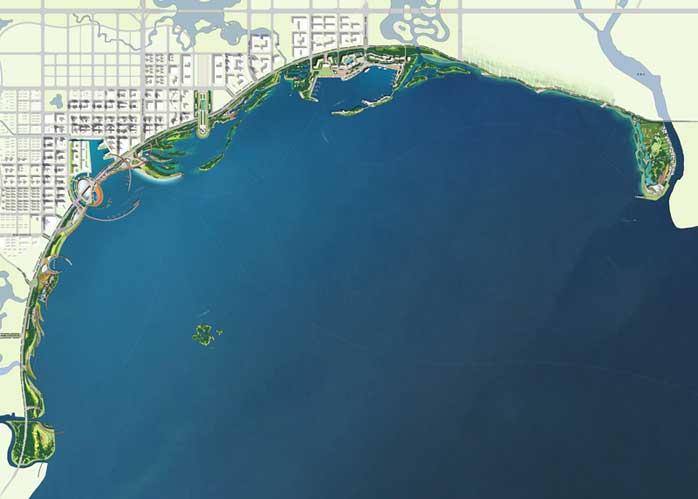 合肥滨湖公园景观设计总平面图