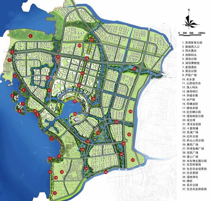 鄂州手绘旅游地图