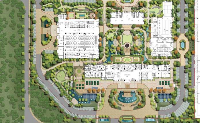 河南郑州裕鸿富豪酒店景观设计图片