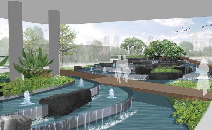深圳盐田港集团翡翠岛景观设计