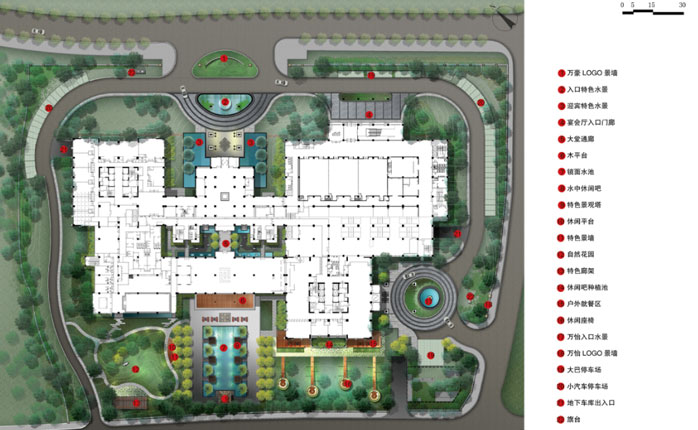 九寨沟万豪,万怡酒店景观设计方案图片