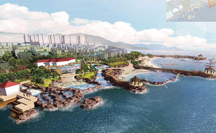 青岛隆海聚龙湾居住区滨海岸线景观设计